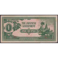 TWN - BURMA 14b - 1 Rupee 1942 Block BD AXF - Myanmar