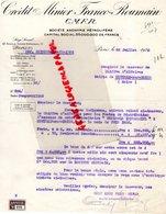 75- PARIS- RARE LETTRE CREDIT MINIER FRANCO ROUMAIN-CMFR-PETROLE ESSENCE-57 AV. VICTOR EMMANUEL III-1930 - Bank & Insurance