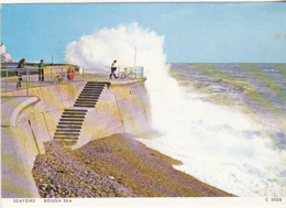 Postcard - Seaford - Rough Sea - Posted In 1990's Full Date Obscured, Stamp Removed - VG - Cartes Postales