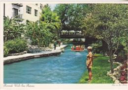 Postcard - Riverside  Walk - San Antonio, Texas - Photo By Bert Phillips - VG - Postcards