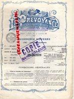 75- PARIS- LA PREVOYANCE-COMPAGNIE ASSURANCES -ASSURANCE-23 RUE DE LONDRES-1927 - Bank & Insurance
