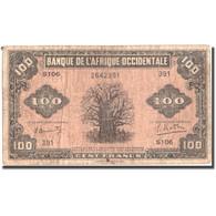 Billet, French West Africa, 100 Francs, 1942, KM:31a, TB - États D'Afrique De L'Ouest