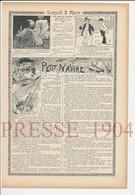 Presse 1904 Histoire D'une épicerie Métier épicier Chanson Petit Navire Texte De Arthur Dourliac 223CH8 - Vieux Papiers