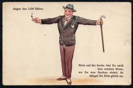 B9403 - Halt Gegen Das Licht - Mann Im Anzug Hut Krawatte - WSSB - Halt Gegen Das Licht/Durchscheink.