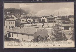CPA 30 - TAMARIS - ALAIS - Usine Des Agglomérées R.B. De La Compagnie Des Mines De Rochebelle TB PLAN INDUSTRIE 1903 - Frankreich