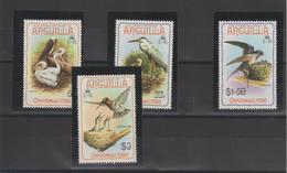 Anguilla 1980 Oiseaux 365-68 4 Val ** MMH - Anguilla (1968-...)