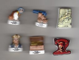 SERIE Complète 6 Fèves Brillantes PIRATES DES CARAIBES II / 2007 - Disney