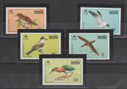 Anguilla 1985 Oiseaux 593-97 5 Val ** MMH - Anguilla (1968-...)