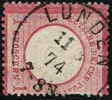 DT. REICH 1873, Nr. 19, 1 GR. NACHVERWENDETER SH-STPL LUNDEN, BPP SIGN. - Allemagne
