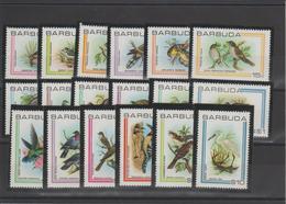 Barbuda 1980 Oiseaux 469-86 18 Val ** MMH - Barbuda (...-1981)