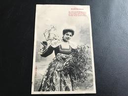 PORTE BONHEUR Par Cette Charmante Personne Née En Pleine Lande Bretonne.... 1906 Timbrée - Silhouettes