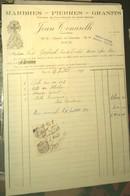 [ NICE ] FACTURE MARBRERIE, Pierres, GRANITS, Année 1933, Entreprise TONARELLI : RARE ! - France