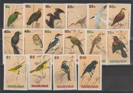 Bahamas 1991 Oiseaux 729-43 + 750 16 Val ** MMH - Bahamas (1973-...)