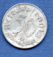 Allemagne  --  50 Reichspfennig  1939 B  - Km # 96  -  état  TB - [ 4] 1933-1945 : Troisième Reich