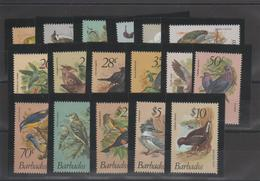 Barbade 1979 Oiseaux 472-88 17 Val ** MMH - Barbades (1966-...)