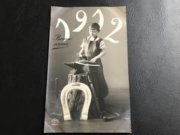 4553/1 - BONNE ANNEE - 1912 Timbrée - Enfant Forgeron - Nieuwjaar