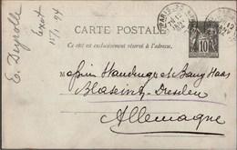 ! 2 Original Autographen 1894,1901, Emile Deyrolle Entomologiste, LAS, L.A.S., Paris, Frankreich, France - Autografi