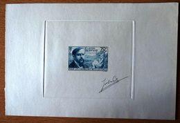 FRANCE 1939 - Claude Debussy ( 1862-1918 ) , Yvert#437 , Scott# B87 - Épreuve D'artiste , Signé - RARE ! - Artist Proofs