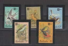 Barbade 1987 Oiseaux 685-89 5 Val ** MMH - Barbados (1966-...)