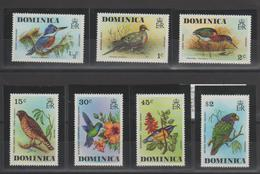 Dominique 1976 Oiseaux 478-84 7 Val ** MMH - Dominique (1978-...)
