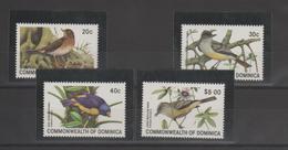 Dominique 1981 Oiseaux 672-75 4 Val ** MMH - Dominica (1978-...)