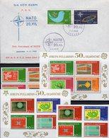 NATO-Rat 1969 Türkei 3491/8,Bl.58/9 **,2120/1 FDC 52€ Mitläufer Flagge Star Flags Blocs S/s Sheets 50 Years Türkiye - 1921-... République