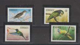 Dominique 1984 Oiseaux 794-97 4 Val ** MMH - Dominica (1978-...)
