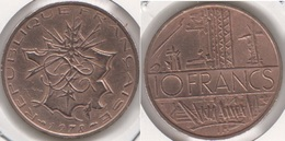 Francia 10 Francs 1978 KM#940 - Used - Francia