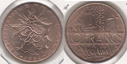 Francia 10 Francs 1984 KM#940 - Used - Francia