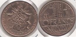 Francia 10 Francs 1987 KM#940 - Used - Francia