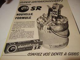 ANCIENNE PUBLICITE DENTIFRICE GIBBS  1955 - Other