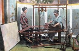 Japan - Life In Japan - Weaving Silk - Japan