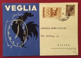 OROLOGI VEGLIA GIOIELLI  GIUSEPPE PONZIO REGGIO CALABRIA  CARTOLINA PUBBLICITARIA PER MILANO - Cartoline