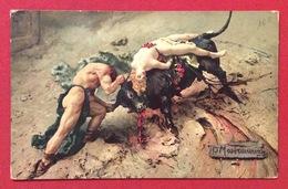 URSUS ATTERRA IL TORO Di MASTROIANNI  CARTOLINA N.V. - Cartoline