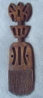 PEIGNE AFRO Monumental (40 Cm X 10 Cm) En Bois Exotique (très Fonctionnel !!!) - Origine Afrique De L'Ouest - Art Africain
