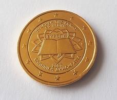 GRECE 2007 - 2 EUROS COMMEMORATIVE - TRAITE DE ROME - FACE COMMUNE - PLAQUE OR - Grèce