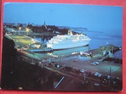 M/F Peter Wessel Im Hafen Von Larvik (Norwegen) / Bordstempel - Steamers