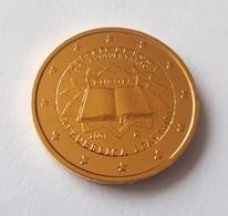 ITALIE 2007 - 2 EUROS COMMEMORATIVE - TRAITE DE ROME - FACE COMMUNE - PLAQUE OR - Italie