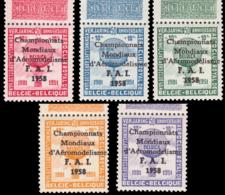 Belgium ER 077** 5 Epreuves Couleur Bord De Feuille MNH - Erinnofilia