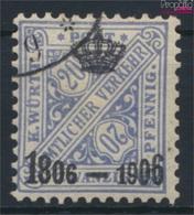 Württemberg D221a Testés Oblitéré 1906 Anniversaire (9252489 (9252489 - Wuerttemberg