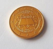 PAYS BAS 2007 - 2 EUROS COMMEMORATIVE - TRAITE DE ROME - FACE COMMUNE - PLAQUE OR - Pays-Bas