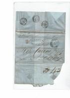 CTN54B- LSC PONDICHERY / BORDEAUX 7/5/1857 CACHET ROUGE SUEZ AMBULANT B - Storia Postale