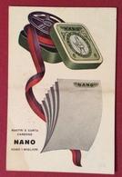 CARTOLINA PUBBLICITARIA NANO NASTRI E CARTA CARBONE SONO I MIGLIORI   USATA 1932 - Cartoline