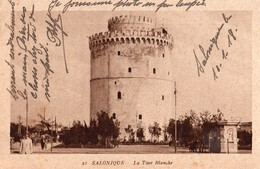 Grèce - Salonique - La Tour Blanche 1918 Circulée Sous Enveloppe - Grèce
