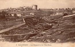 Grèce - Salonique - Les Remparts Et La Ville Haute - 1919 Correspondance Militaire Sans Timbre - Grèce