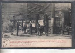 Carte Postale 59. Hautmont Les Forges Four à Réchauffer D'un Gros Train  Très Beau Plan - France