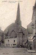 LOUDUN - Le Chevet De L'Eglise St Pierre Et Place Carnot - Loudun