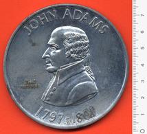 M3-2369 John Adam 2nt President Of The USA – Large Medal [Aluminum]. - Etats-Unis