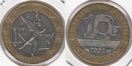 Francia 10 Francs 1991 KM#964.1 - Used - K. 10 Franchi