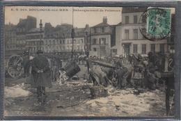 Carte Postale 62. Boulogne-sur-mer  Débarquement Du Poissons Très Beau Plan - Boulogne Sur Mer
